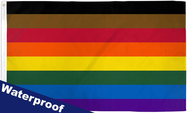 Philly Rainbow 2' x 3' Waterproof Poly Flag