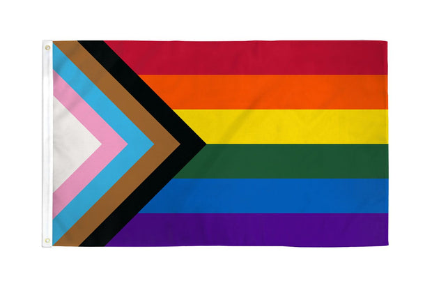 Progress Pride Waterproof Flag 3x5ft Poly by Daniel Quasar LGBTQ Inclusive