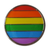 Rainbow Circle Lapel Pin