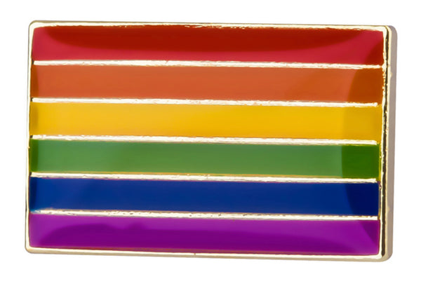 Rainbow Rectangle Lapel Pin