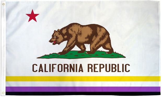 California Pride Flag 3' x 5' Rainbow or Non-Binary