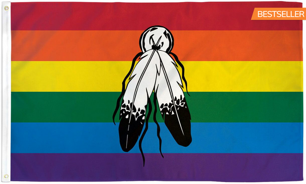 Two Spirit (Rainbow) Flag 3' x 5' Feet Indoor/Outdoor Waterproof