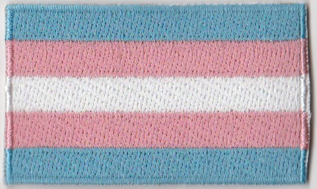 "Transgender Flag Iron On Patch 2.5"" x 1.5"""