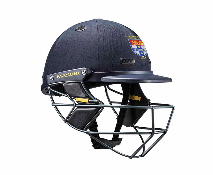 Masuri SENIOR Vision Series Test Helmet with Steel Grille - Sydney University CC