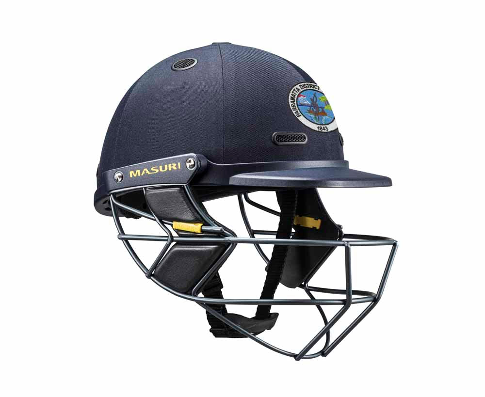 Masuri SENIOR Vision Series Test Helmet with Steel Grille - Parramatta District CC