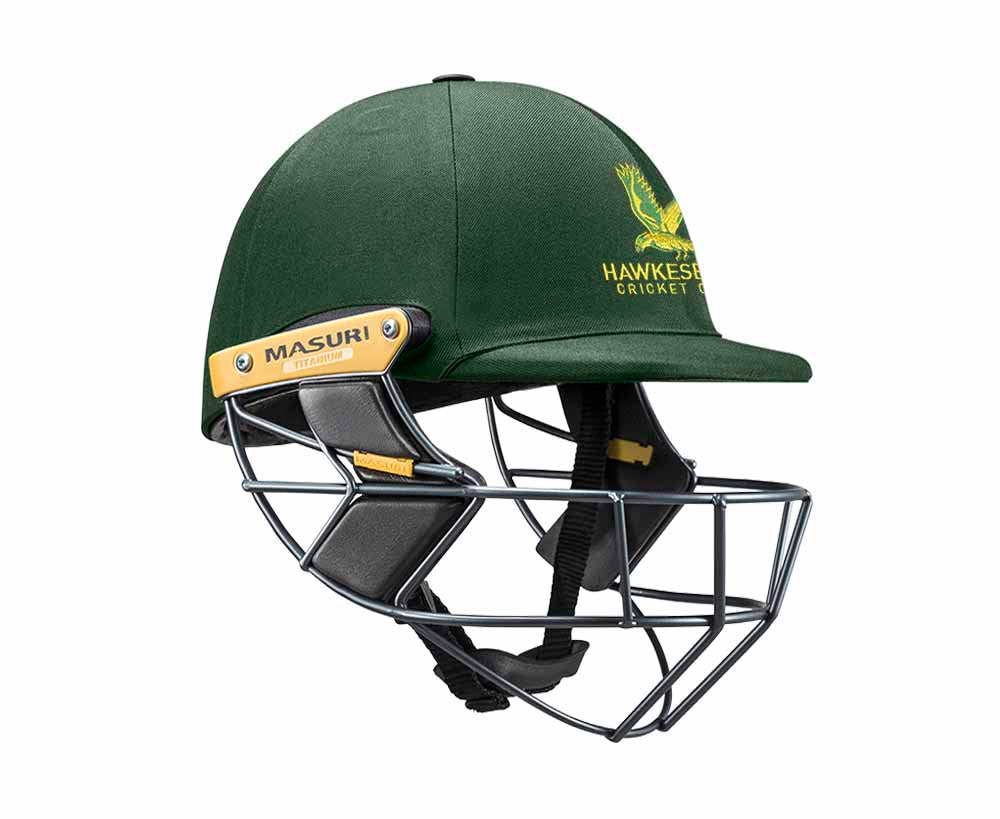 Masuri Original Series MK2 SENIOR Test Helmet with Titanium Grille - Hawkesbury CC