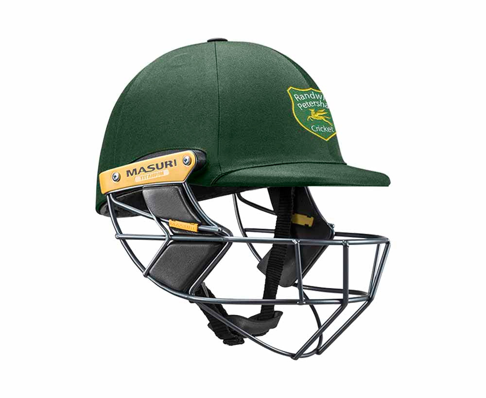 Masuri Original Series MK2 SENIOR Test Helmet with Titanium Grille - Randwick Petersham CC