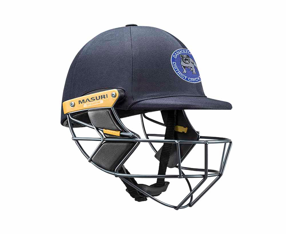 Masuri Original Series MK2 SENIOR Test Helmet with Titanium Grille - Bankstown CC