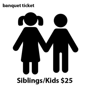 Varsity/JV Banquet - KIDS & SIBLINGS $25 ticket - January 20, 2019 (Sunday evening)