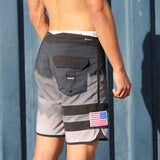 Hurley + Newport Football Block Party Board Shorts with American Flag