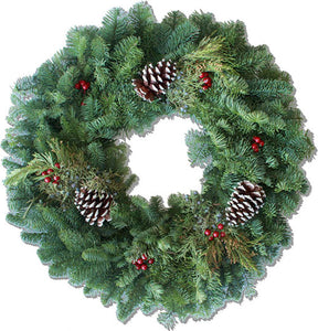 Noble Fir Round Wreath (24-inches)