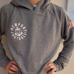 Hurley + Newport Football Dri-Fit Disperse Pullover with NH Clock Tower