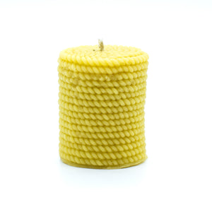 Rope Cylinder  - Beeswax Candle