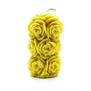 Rose Cylinder.  - Beeswax Candle