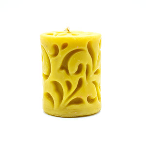 Inner Scroll Cylinder  - Beeswax Candle