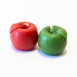 Green & Red Apples - Beeswax Candle Pack