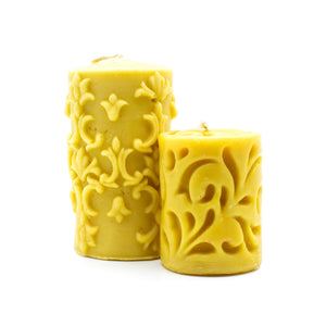 Large Cylinders - Beeswax Candle Pack