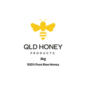 Honey - 100% Pure Raw Qld Honey 3kg Jar