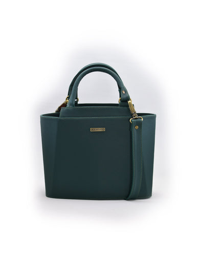Cartera Piramidal Mini Verde Botella - Parchita | Paciflora