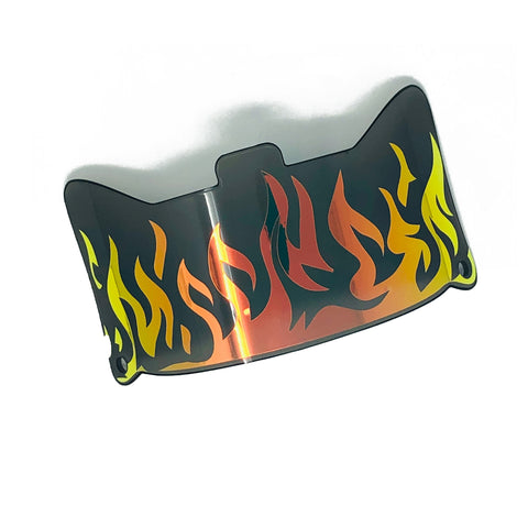 SHOC 1.0 Fire Football Visor