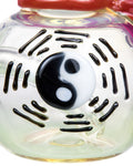 closeup of ying yang symbol design