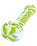 Green Swirled Hand Pipe - Flight 24 LLC