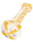 Orange Swirled Hand Pipe - flight24llc.com