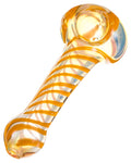 Orange Swirl Fumed Spoon Pipe - flight24llc.com