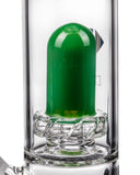 Diamond Glass Skinny Neck UFO Straight Tube Closeup of UFO Perc