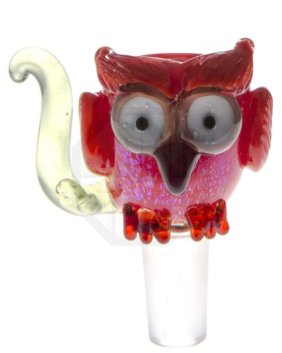 Empire Glassworks - Red Owl Glass Bowl