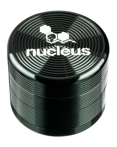 Nucleus - Black Medium Four Piece Herb Grinder - Flight 24 LLC