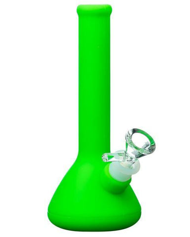 Nucleus - Skinny Neck Silicone Beaker Bong - Green - Flight 24 LLC