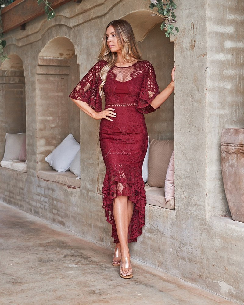 Reyna Dress - Red