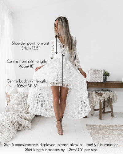 Boho High Low Dress