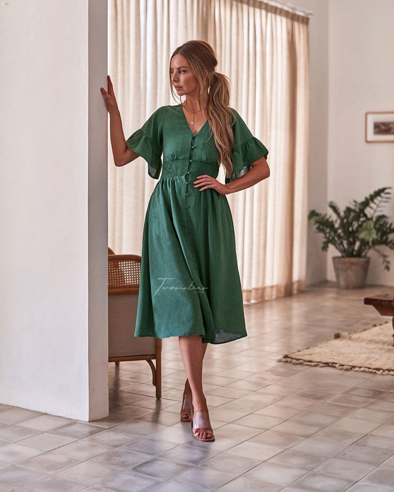 Twosisters The Label Nikki Dress Green