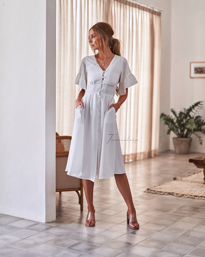 Twosisters The Label Nikki Dress White