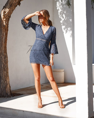 Brooklyn Dress - Steel Blue