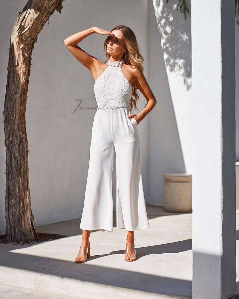 Bree Jumpsuit- White