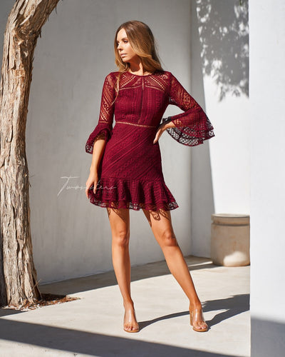 Stacey Dress - Red