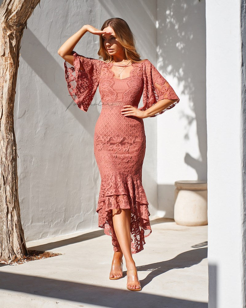 Reyna Dress - Mauve