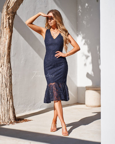Bridget Dress - Navy
