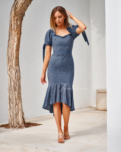 Parker Dress - Steel Blue