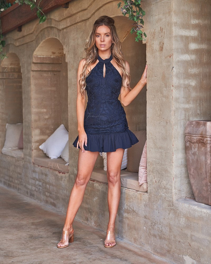 Esmerelda Dress - Navy