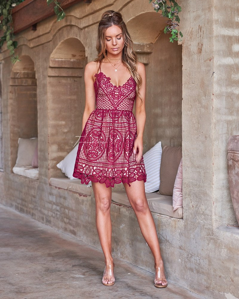 Mendoza Dress- Red
