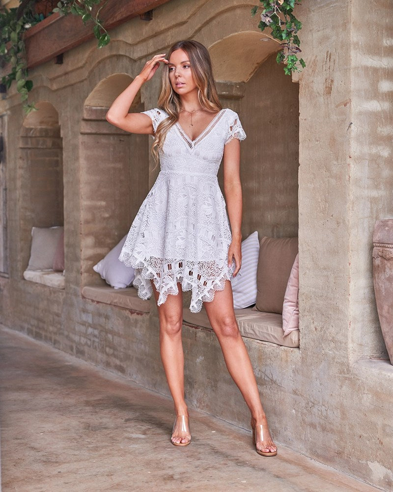 Havana Dress - White