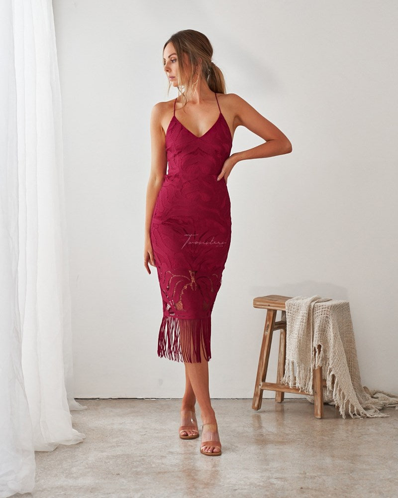 Khaleesi Dress- Cerise