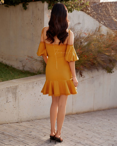 Twosisters The Label Daynah Dress Mustard