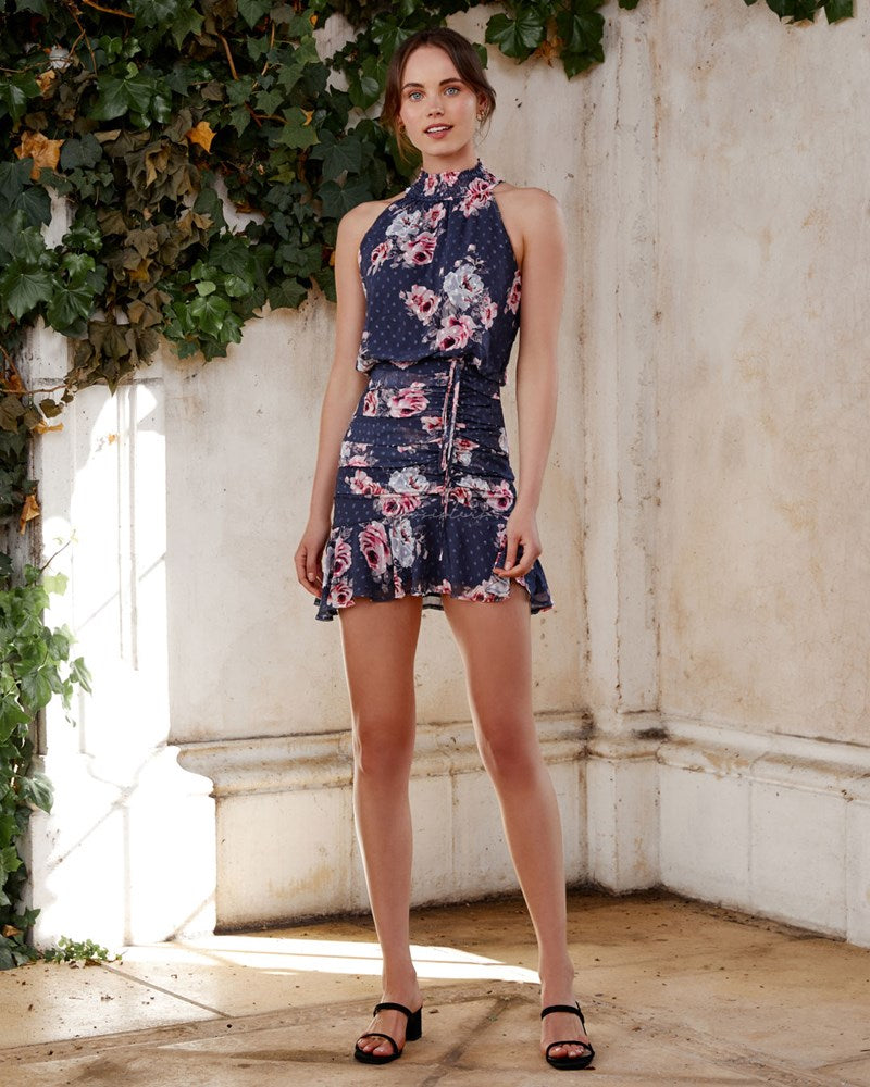 Twosisters The Label Pip Dress Navy Floral