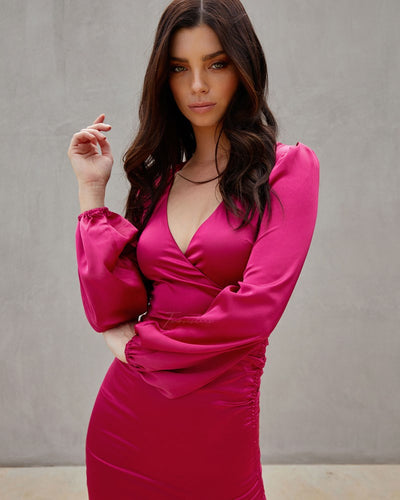 Twosisters The Label Autumn Dress Hot Pink