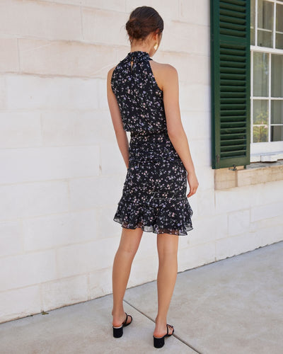 Twosisters The Label Pip Midi Dress Black Floral